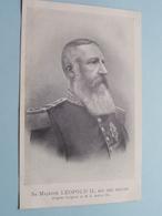 Sa Majesté LEOPOLD II, Roi Des Belges () Anno 19?? ( Zie/voir Foto ) België ! - Familles Royales