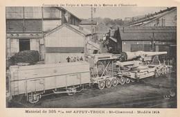 Rare Cpa  Canon De 305 Sur Affut Truck Dans Les Usines De St-Chamond - 1914-18