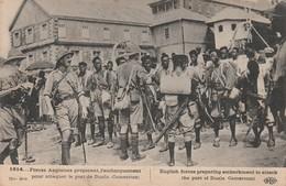 Rare Cpa Troupes Anglaises Préparant L'embarquement Pour Attaquer Le Port De Duala Au Cameroun - 1914-18