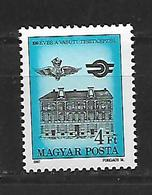 Hungary  1987 The 100th Anniversary Of The Railway Officers Training Centre MNH - Hongrie