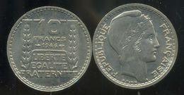 FRANCE  10 Francs Turin 1946 B  Rameaux COURT   Grosse Tete ( SPL ) - France