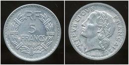 FRANCE  5 Francs 1946 B   Lavrillier   ( TTB ) - France