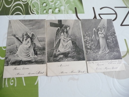 Lot 3 CPA Anges Religion Wiennoise? Dont Une Signée Recto Scolik Wien - Illustrateurs & Photographes