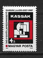 Hungary  1987 The 100th Anniversary Of The Birth Of Lajos Kasak, 1887-1967  MNH - Hongrie