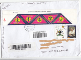 UGANDA - Postally Used Cover To The Netherlands With 5x UGX700 2015 Sikh In Uganda Anniversary Stamps OUGANDA C018 - Uganda (1962-...)