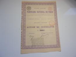 PANORAMA NATIONAL DE PARIS (1881) - Aandelen