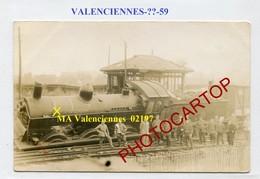 Deraillement-Locomotive De VALENCIENNES-NON SITUEE-CARTE PHOTO Allemande-Guerre 14-18-1WK-France-59-Militaria- - Valenciennes
