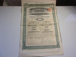 MONTEBRAS Limited , Mine A SOUMANS (creuse) 1909 - Non Classés