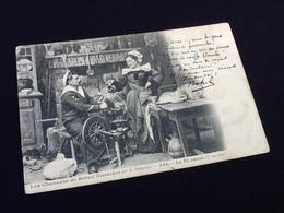 Bretagne  Les Chansons De Botrel Illustrées  Le Fil Cassé (3ème Couplet)  N° 335 - Folklore