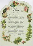 PRENOMS - HOMME - Jolie Carte Fantaisie Fleurs -  Prénom YOHANN - 24 JUIN - Prénoms