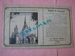 """Superbe Catalogue PAPIER PEINT 1930 """"Le Décor Mural"""" Paris 10 échantillons Etat Extra - Stamperia & Cartoleria"""
