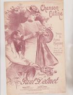 (GEO1)  CHANSON   CALINE  , Poesie AYME MAGNIEN  , Musique PAUL DEMETillustrateur PAUL BALLURIAU - Partitions Musicales Anciennes