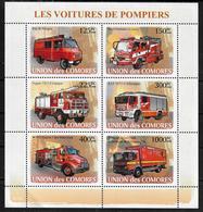 COMORES  Feuillet  N° 1297/02  * * ( Cote 16e ) Pompiers   Camions - Sapeurs-Pompiers