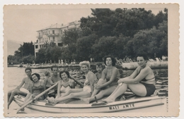 REAL PHOTO, Group On Boat Swimsuit Women Naked Trunks Men  Beach, Femmes Maillot De Bain Hommes Nu, Bateau Old  ORIGINAL - Photographs