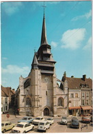Nonancourt: RENAULT 4, PEUGEOT 404, 504, 204, SIMCA 1000 & 1100, FIAT 500, CITROËN 2CV - L'Eglise St Martin - (Eure) - Toerisme