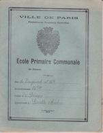 ANCIEN CAHIER DE DEVOIRS - ILLUSTRATION VILLE DE PARIS - FOURNITURE SCOLAIRES GRATUITES - ECOLE PRIMAIRE COMMUNALE 1933 - Protège-cahiers
