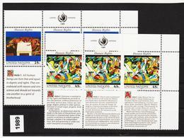 SRO74 VEREINTE NATIONEN UNO NEW YORK 1989 Michl 595/96 ** Postfrisch - New York -  VN Hauptquartier