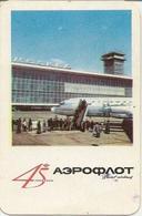 Soviet Calendar Calendar - Russia - 1968 - Aeroflot - Airplane - Moscow Airport - Retro - A Rarity - Petit Format : 1961-70