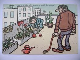 Czech Painter NEPRAKTA: Humor / Humour - Environment - Der Umweltschutz - L'environnement - Unused 1980s - Humour