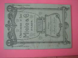 Orfevrerie D'Art 1911 MIELE Et Cie. Catalogue Avec Beaucoup De Piéces Art Déco  TBE - Argenterie