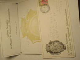 1970 Conference Europenne Des Ministres Des Postes Et Des Telecomunicationa ANNULLO Speciale Carta Busta Intestata - Belgique