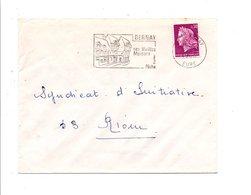 FLAMME VIEILLES MAISONS DE BERNAY EURE 1968 - Oblitérations Mécaniques (flammes)