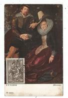 BELGIQUE 1FR50 RUBENS  CARTE MAXIMUM CARD MAX BRUXELLES 1939 - Cartes-maximum (CM)