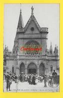 CPA 78 ¤¤ CHATOU ¤¤ Sortie Eglise 1920  ( Cycliste - Calèche ) - Chatou