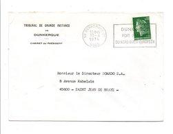 FLAMME PORT DE DUNKERQUE NORD 1974 - Oblitérations Mécaniques (flammes)