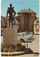 Marvejols: FIAT 124S, RENAULT 8, CHRYSLER-SIMCA 160 - Statue De Henri IV - Porte De Soubeyran - Toerisme
