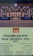 Oman Hotel Key, Majan Continental Hotel Muscat (1pcs) - Oman