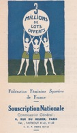 1933 - LETTRE ENTETE SOUSCRIPTION NATIONALE FÉDÉRATIONS FÉMININE SPORTIVE DE FRANCE POUR LES MAIRIES MAIRE - Historical Documents