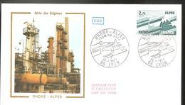 FDC  1977    RHONE ALPES - FDC