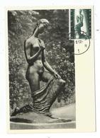 BELGIQUE 2FR50  FEMME AGENOUILLEE SCULPTURE LEHMBRUCK  CARTE MAXIMUM CARD MAX ANTWERPEN 20.8.1957 - Cartes-maximum (CM)