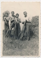 REAL PHOTO, Shirtless Boys W Father Working In Fields Garcons Et Homme Travaillant Dans Le Champ Old  ORIGINAL - Photographs