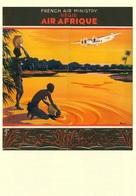 France Aviation Postcard Air Afrique 1936 - Reproduction - Pubblicitari