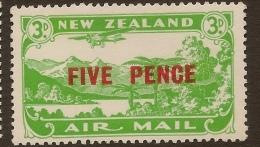 NZ 1931 5d On 3d Air Stamp SG 551 HM #VY221+ - Poste Aérienne