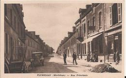 Carte Postale Ancienne De Plumeliau  Rue Principale - France
