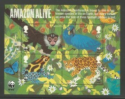 2011 Great Britain 50th Anniversary Of WWF: Amazon Rainforest Minisheet (** / MNH / UMM) - W.W.F.