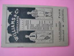 Catalogue 1910 équipements Sportifs WILLIAMS Et Cie Paris 144 Pages Suberbe - Autres