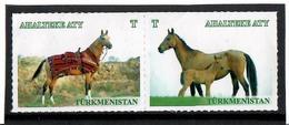 Turkmenistan. 2016 Horses . 2v. - Turkménistan