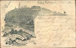 Lithographie Syburg Dortmund Nordrhein Westfalen, Hohensyburg, Hotel Rich. Wulf - Deutschland