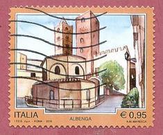 ITALIA REPUBBLICA USATO 2016 - TURISMO TURISTICA - Albenga - € 0,95 - S. 3708 - 2001-10: Afgestempeld