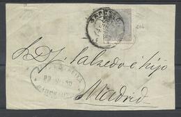 ESPAÑA , FRONTAL DE CARTA A MADRID, SELLO EDIFIL 204 - 1875-1882 Kingdom: Alphonse XII