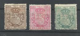 CUBA EDIFIL TELEGRAFOS  52/54   MH  * - Cuba (1874-1898)
