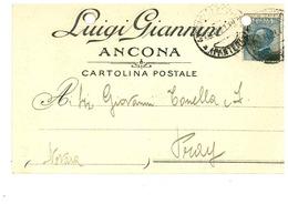 ANCONA CARTOLINA COMMERCIALE DITTA GIANNINI - Ancona