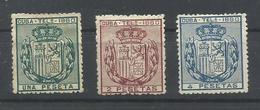 CUBA EDIFIL TELEGRAFOS  49/51   MH  * - Cuba (1874-1898)