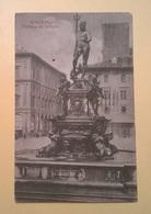 CARTOLINA POSTCARD VIAGGIATA ITALIA 1921 SENZA BOLLO FONTANA DEL NETTUNO ANNULLO BOLOGNA FERROVIA - Bologna