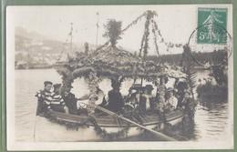 CARTE PHOTO TOP ANIMATION - ALPES MARITIMES - VILLEFRANCHE SUR MER - COMBAT NAVAL FLEURI - MARS 1911 - Villefranche-sur-Mer