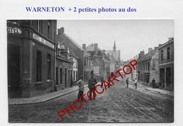 WARNETON-CARTE PHOTO Allemande+2 Petites Photos-GUERRE 14-18-1WK-Belgien-France-??-Militaria - Comines-Warneton - Komen-Waasten